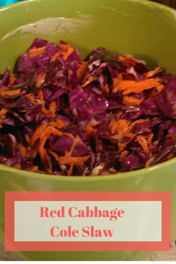 This red cabbage cole slaw is a great addition to any barbecue #coleslaw #recipe #realfood #foodie #cookout #barbecue @godschicki