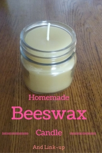 Homemade Beeswax Candle & Link~Up @godschicki