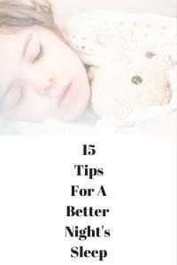 15 Tips for a Better Night's Sleep @godschicki
