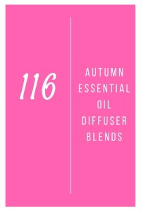 116 Autumn Essential Oil Diffuser Blends @godschicki