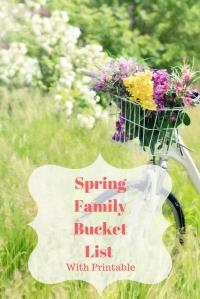 Spring Family Bucket List with Printable #spring #bucketlist #family #garden #familytime @godschicki