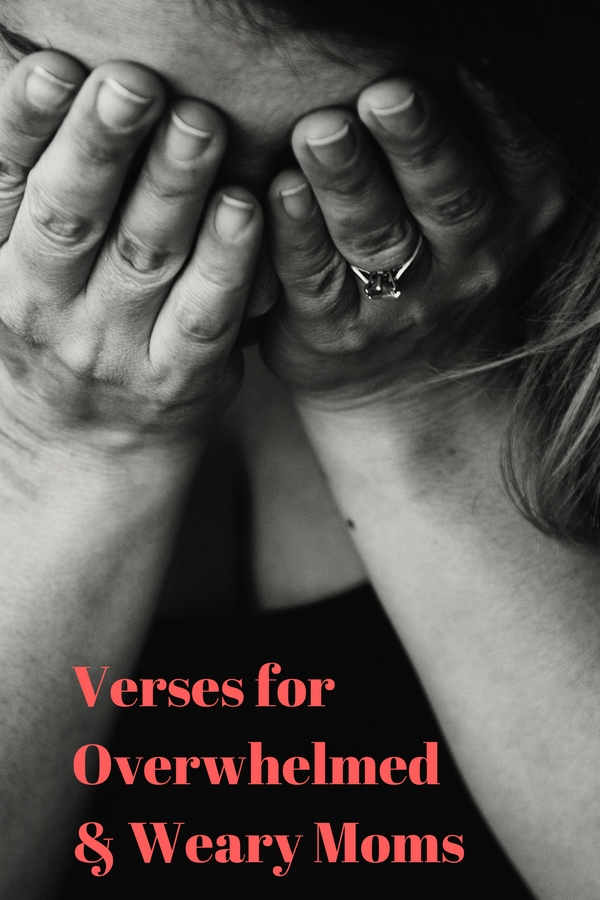 Verses to use on days when you are feeling overwhelmed and/or weary. #weary #wornout #tired #overwhelmed #bible #jesus #biblestudy #motherhood @godschicki