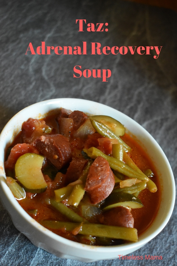 Taz, or Adrenal Recovery Soup is a simple, nourishing soup to give your body what it needs. #soup #adrenalfatigue #nourish #realfood #gourmet #recipe
