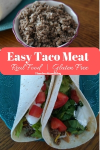 An easy, real food taco meat recipe that will make Taco Tuesday great again. #taco #foodie #realfood #glutenfree #foodiefriday #tacotuesday